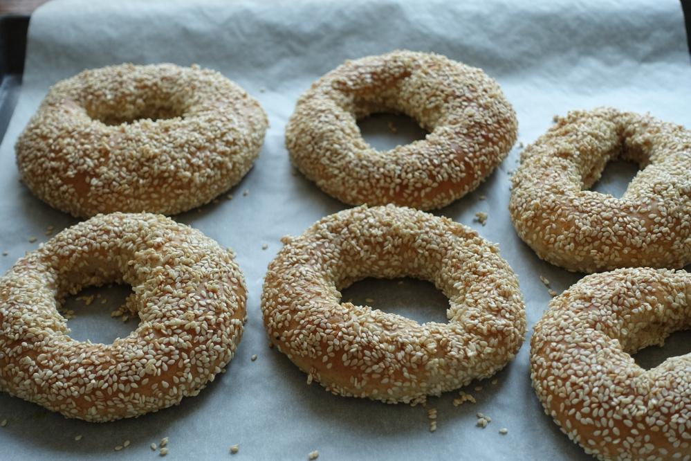 Sesamringe, Simit, Brot, Brötchen, selbst gebacken, homemade bread, das beste Rezept, köstlich, mit Sesam, #linzersmileys