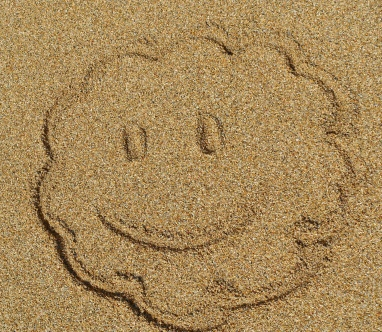 Smiley am Strand