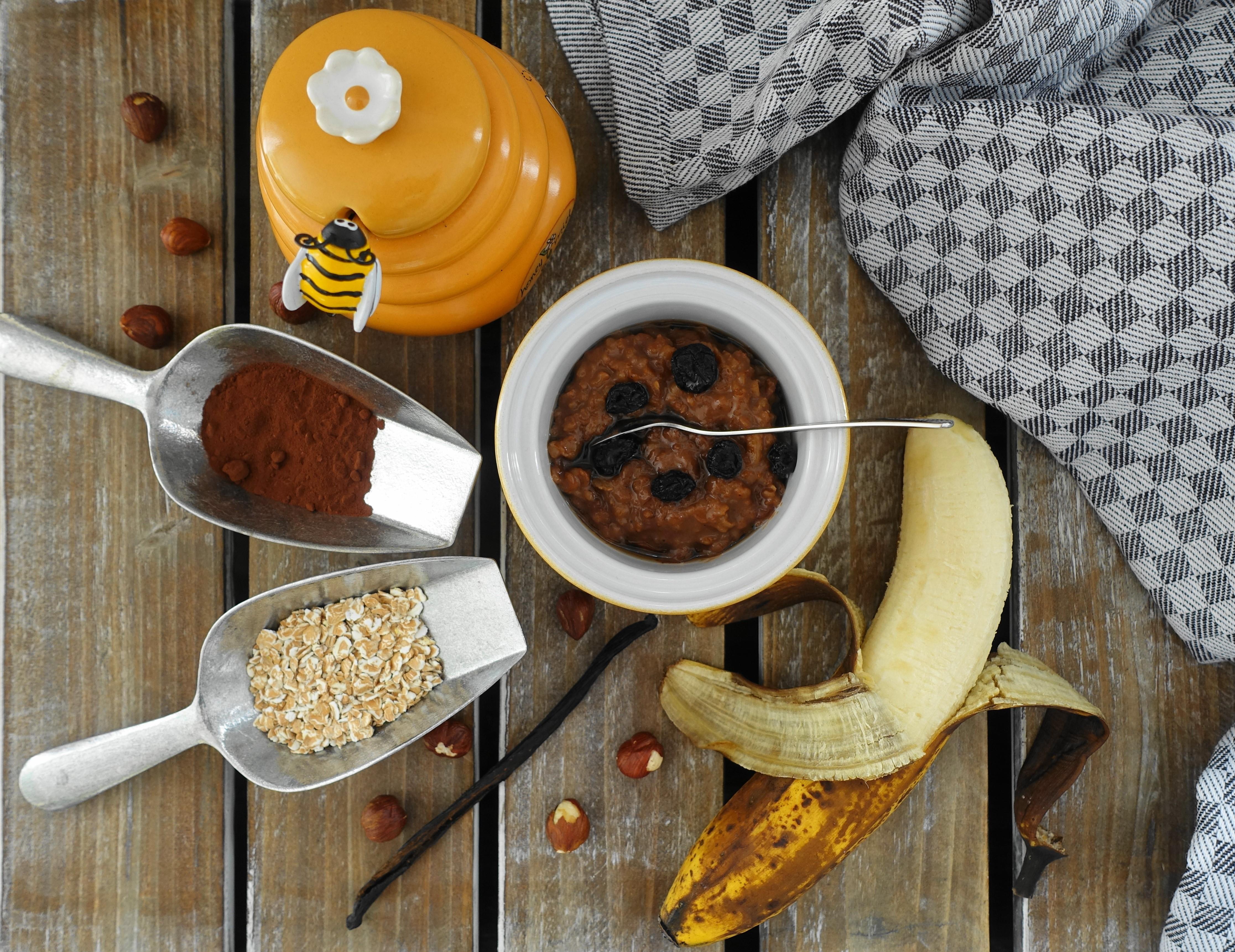 Resteverwertung, Waste Cooking, überreife Bananen,kochen mit braunen Bananen, nachhaltig, Porridge, selbst gemacht, Müsli, Frühstück, Brei, warmes Frühstück