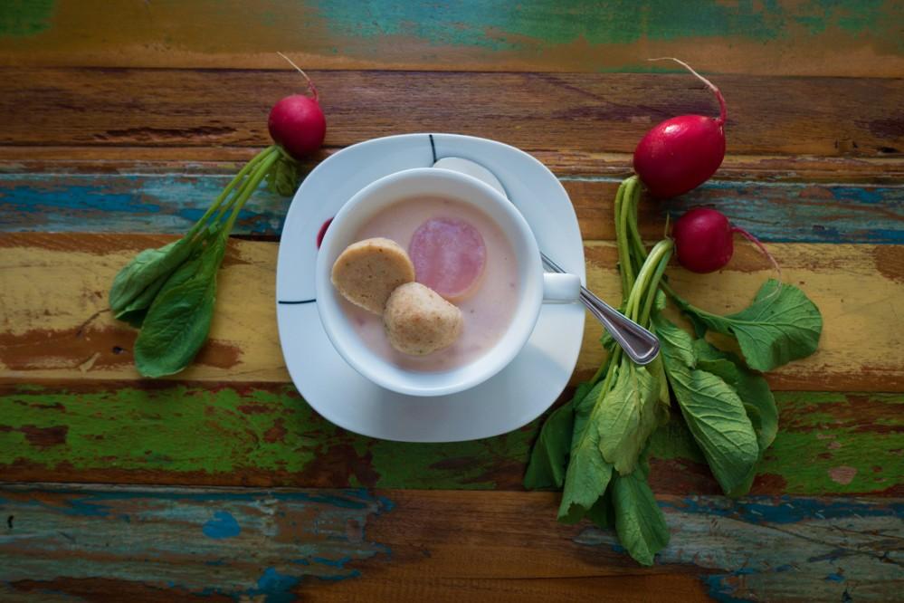 Rosa Radieschensuppe