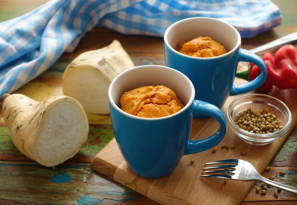 MugCake mit Süßkartoffeln