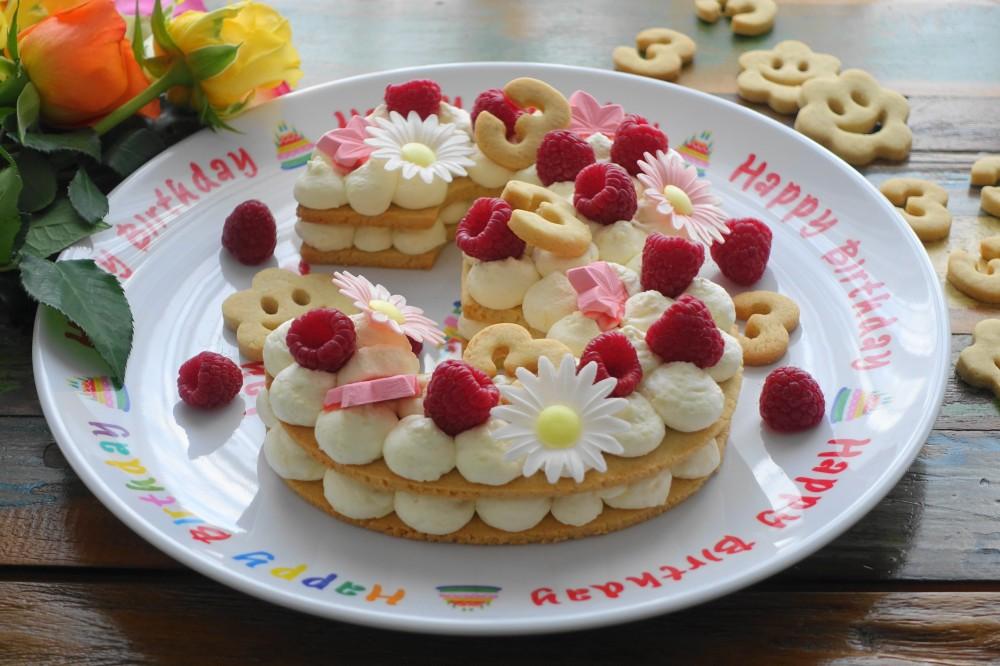 Numbercake - Keks-Tarte in Zahlenform zum Bloggeburtstag von www.linzersmileys.com , vegetarisch backen, Foodtrend, Backtrend - genial, einfach, lecker!