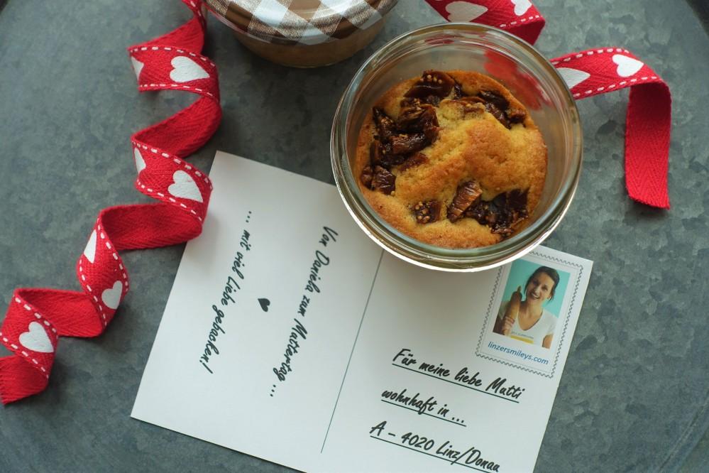 Kuchen im Glas, selbst gemacht, mit Feigen und Zitrone; perfekt zum Verschenken und Verschicken! lecker, kreativ, vegetarisch