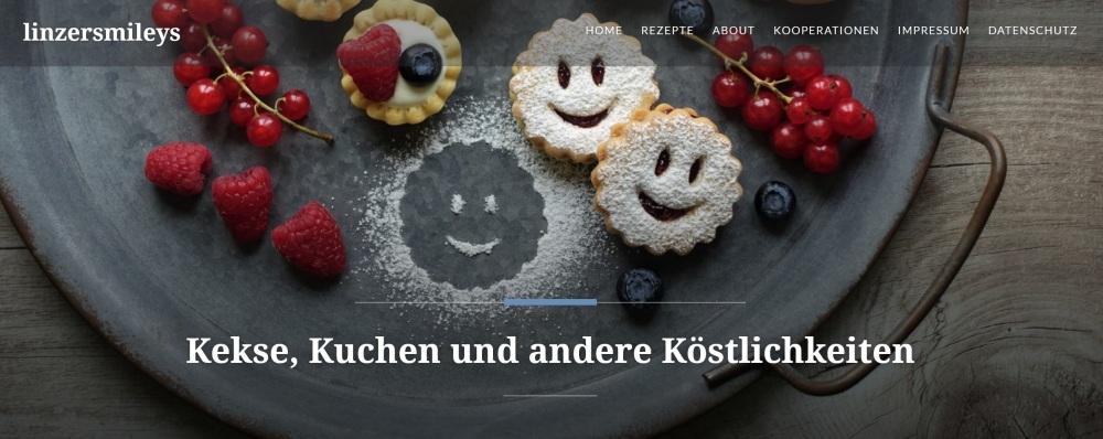 Banner von Daniela Terenzis Foodblog linzersmileys.com Linzer Smileys und Linzer Cheescake-Törtchen.com