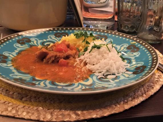 Tikka Masala mit zweierlei Reis