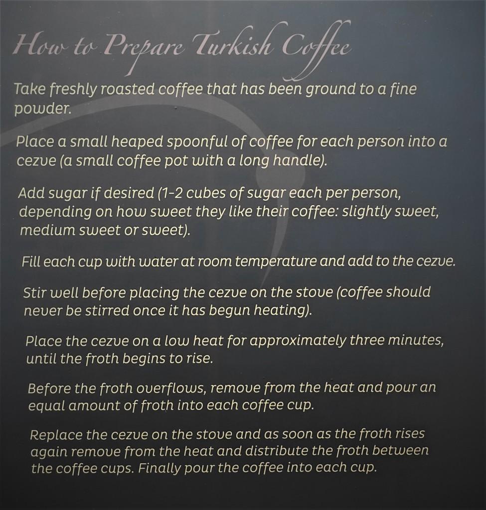 Zubereitung von türkischem Kaffee