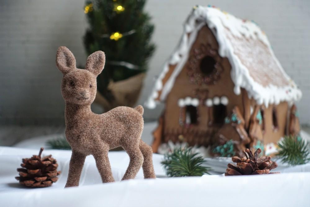 Lebkuchenhaus, Pfefferkuchenhaus, Hexenhaus, Lebkuchen, selbst backen, Weihnachten, Schnee, Weihnachtsduft, Zimt, Vanille, Gewürznelke, Bambi im Schnee, Zauberwald