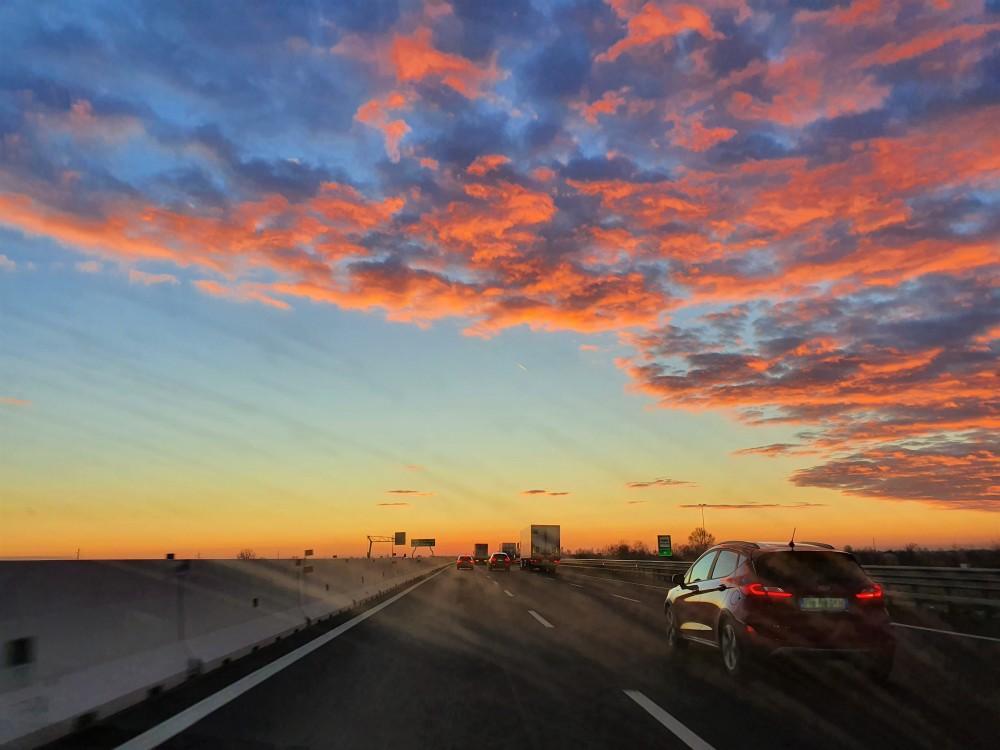 Sull'autostrada