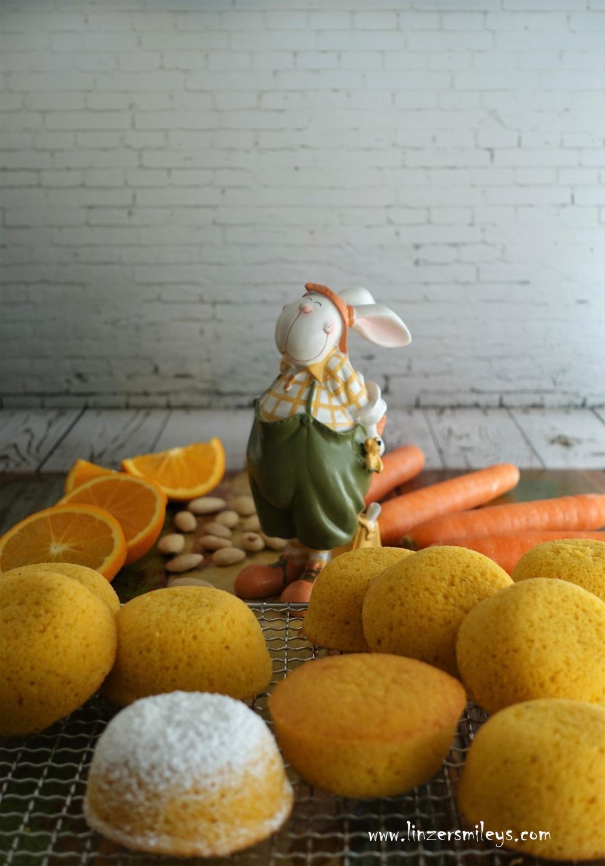 Camilla, Camille, kleine Kuchen mit Orange, Karotten und Mandeln, saftig, fluffig, italienisch backen, Vitaminkick, ACE, tortine a forma di semisfera, halbkugelförmig, Küchlein, Kucken, dolce sano, merenda, Jausenzeit