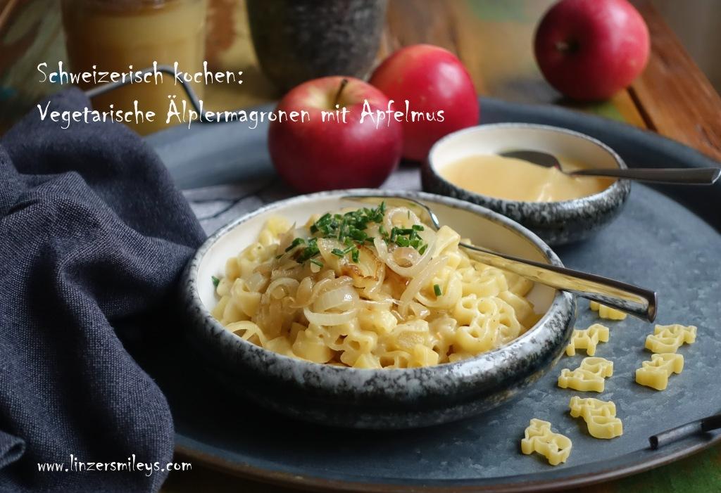 Älplermagronen, Schweizer Maccheroni mit Zwiebeln, Kartoffeln, Rahm und Käse, vegetarisch, Schweizer Spezialität, One Pot Gericht, Easy Cooking, schnell zubereitet, traditionell, Hüttengericht
