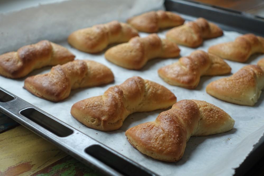 #linzersmileys Nastrine, süße Mascherl, Frühstücksgebäck, backen mit lievito madre, italienischer Sauerteig