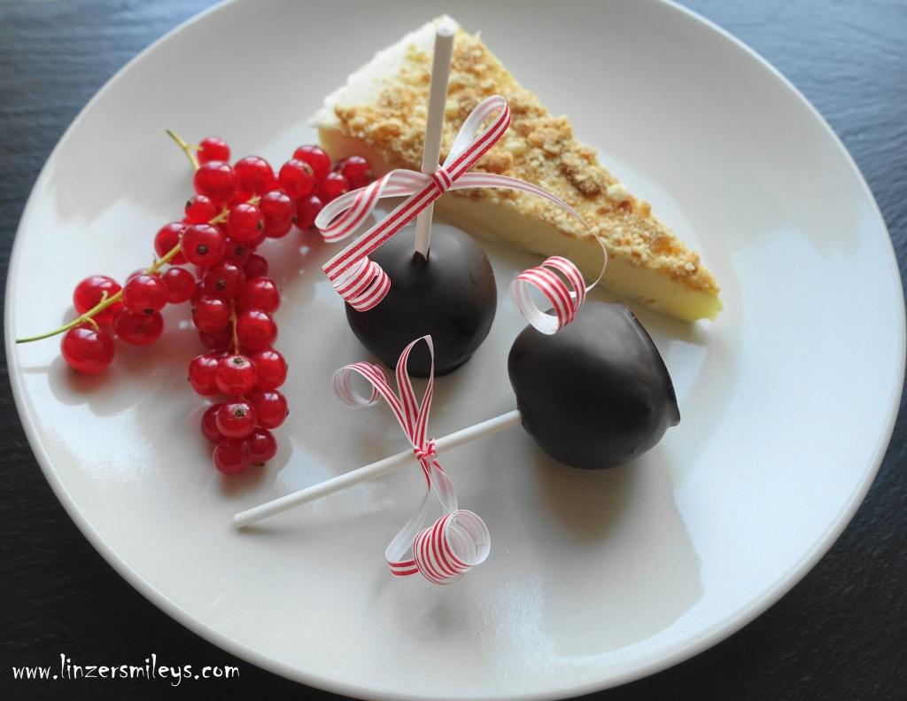#linzersmileys Sachertorten-CakePops, Sachertorte am Stiel, Wiener Tortenklassiker neu interpretiert, Fingerfood, Tradition versus Moderne