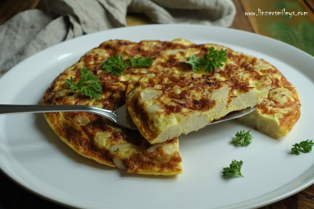 Karfiol-Omelett, Blumenkohl, Omelette, Eierspeise, Low Carb, wenig Kohlenhydrate, ein Rezept zum Abnehmen, gesund und lecker, EasyCooking