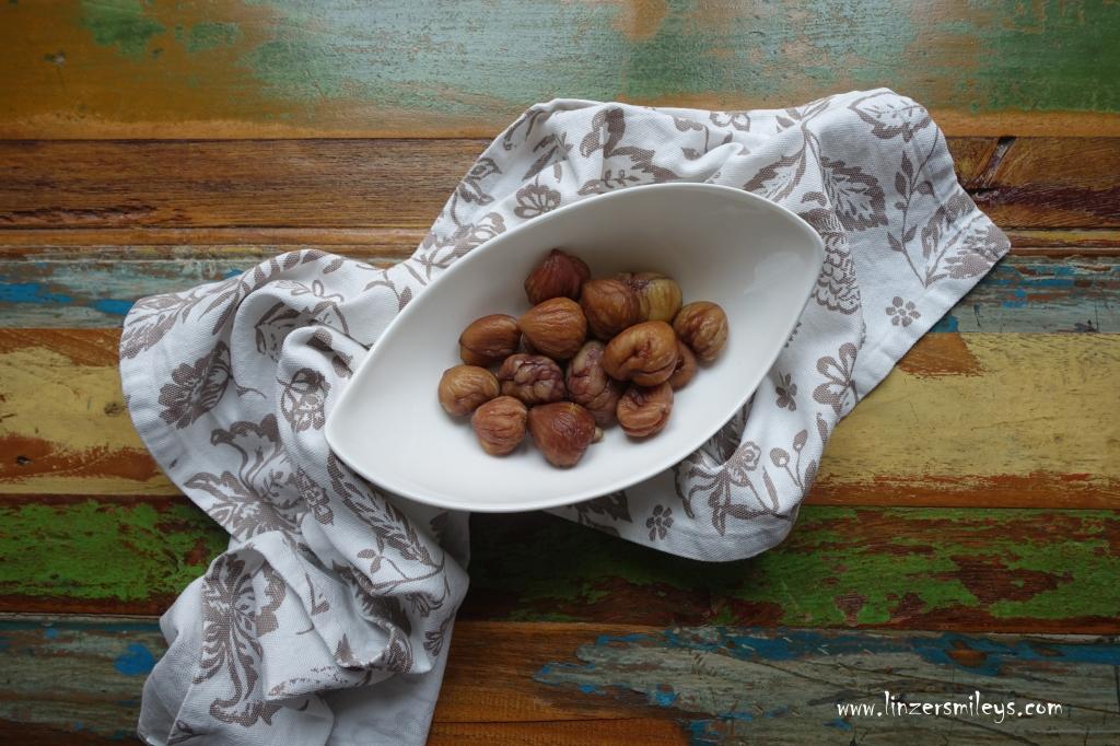 essfertige Edelkastanien, Maroni, Marroni, zum Snacken und Backen