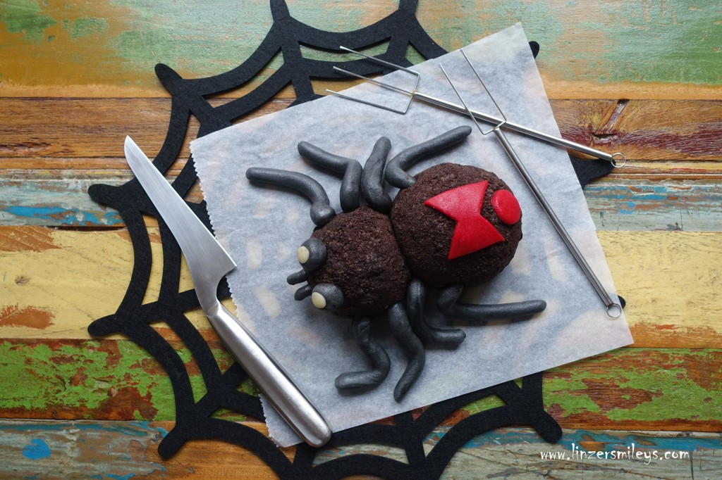 Happy Halloween! Süßes oder Saures, zuckersüße Spinne, Schwarze Witwe, Leckeres mit Gruselfaktor, #linzersmileys