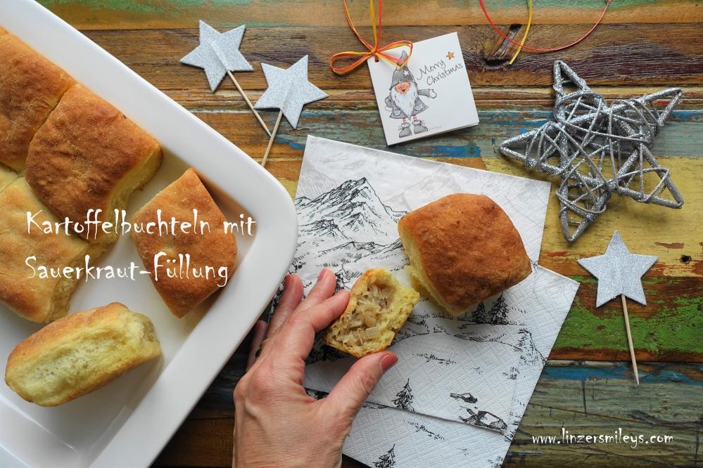 Kulebiak, Buchteln mit Sauerkraut, Sauerkohl, polnisch inspiriert, vegetarisch, Rezept à la #linzersmileys mit Erdäpfeln, Kartoffeln