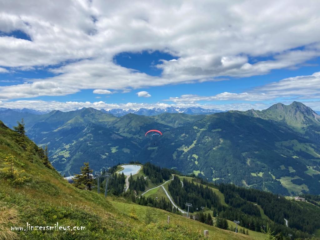 Urlaub in Österreich, Gasteinertal, fliegen, Paragleiten, Traum, Träumereien, Dorfgastein-Großarl, Spiegelsee, Foto von Daniela Terenzi #linzersmileys