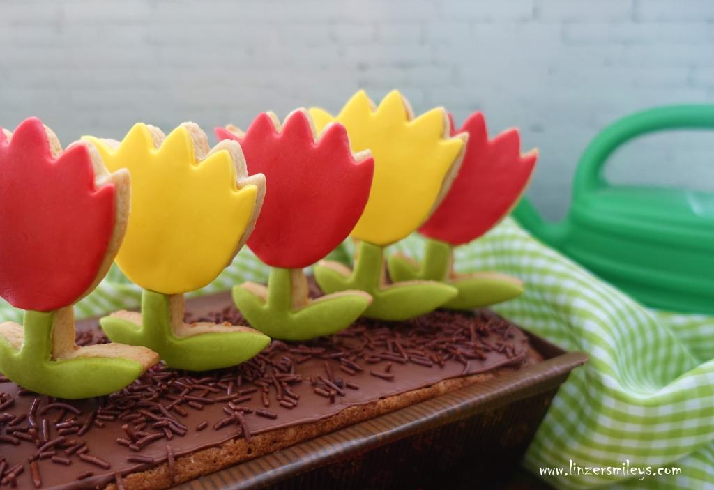Blumen-Kisterl-Kuchen, Kekse am Stiel, Vanillekuchen mit Pistazien und weißer Schokolade, zum Verschenken, zuckersüß, Blumen machen Freude, süße Blumen zum Knabbern, zum Vernaschen, DIY, für den Muttertag, Kreation von Daniela Terenzi #linzersmileys