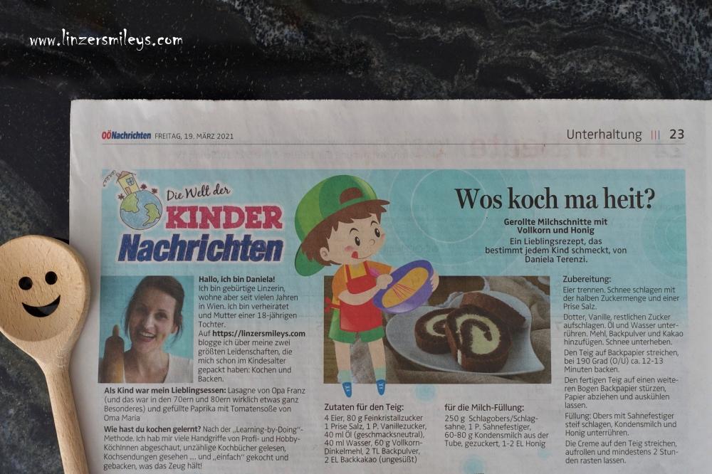 OÖNachrichten, die Welt der Kindernachrichten, Wos koch ma heit?, Rezept von Daniela Terenzi, #linzersmileys