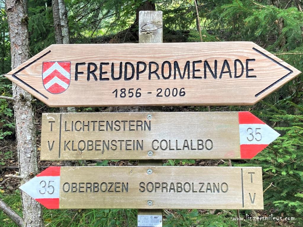 #ritten #renon #freudpromenade Sigmund und Anna Freud, #linzersmileys Urlaub in Südtirol, wandern, erinnern, träumen, Ruhe genießen, Genuss erleben